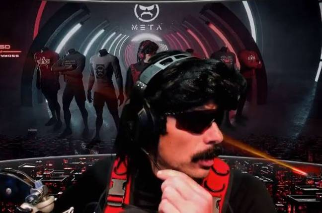 This isn't his first ban. Credit: Twitch.tv/DrDisrespect