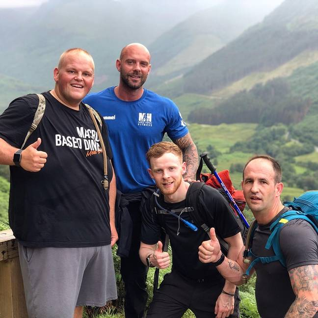 Dibsy and Mike even climbed Ben Nevis together earlier this year. Credit: Mike Hind Fitness