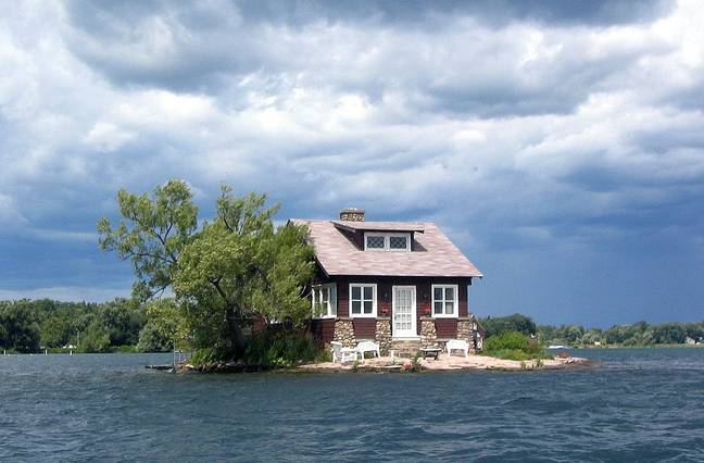 just enough room island