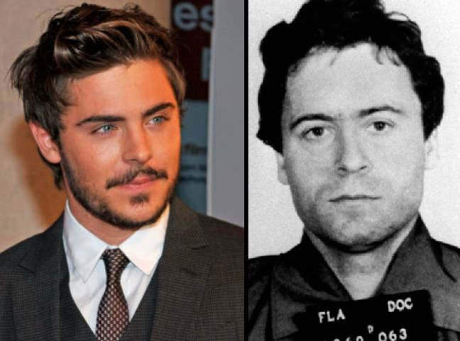Zac Efron and Ted Bundy. See the resemblance? Credit: PA