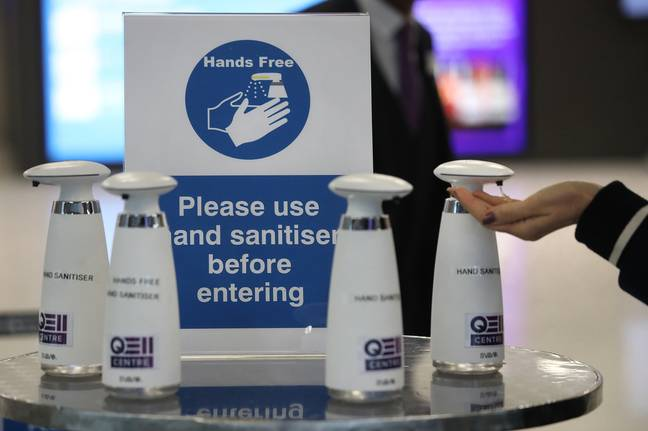 People are advised to use hand sanitiser if they can't use soap and water. Credit: PA