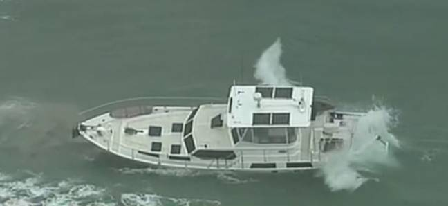 The 13-metre boat. Credit: 9News