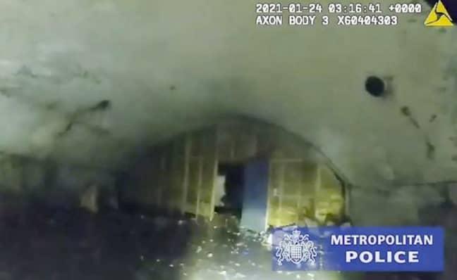 Police shut down a rave in London. Credit: Metropolitan Police