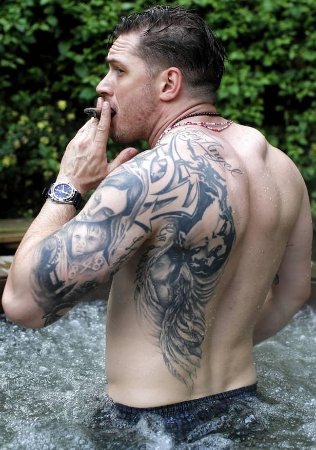 Tom Hardy's tattoos (Credit: tom-hardy.org)