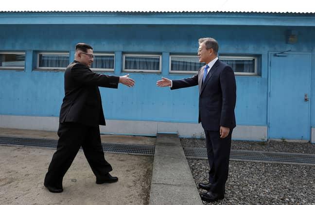 North Korean leader Kim Jong-un and South Korean President Moon Jae-in. Credit: PA