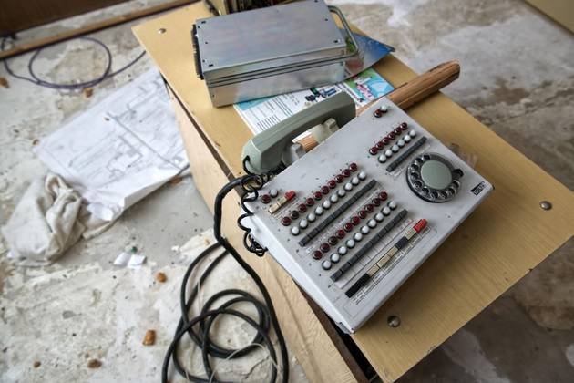 An archaic telephone was discovered
