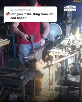 Blacksmith Forges Weapons From Movies And Games