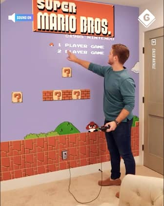 Playing Super Mario Bros On A Wall
