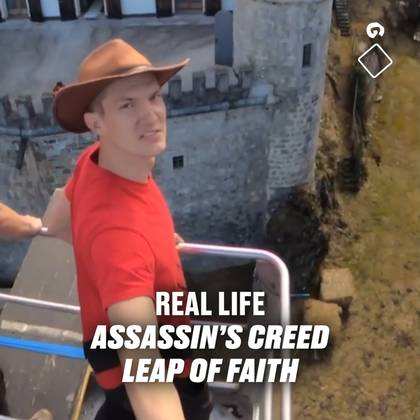 Real Life Leap of Faith From Assassin's Creed