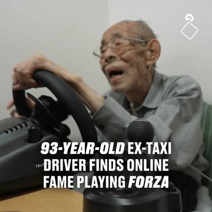 93-Year-old Ex-Taxi Driver Finds Online Fame Playing Forza