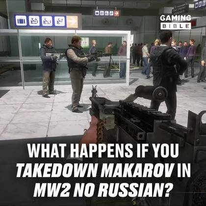 What Happens If You Takedown Makarov In No Russian MW2