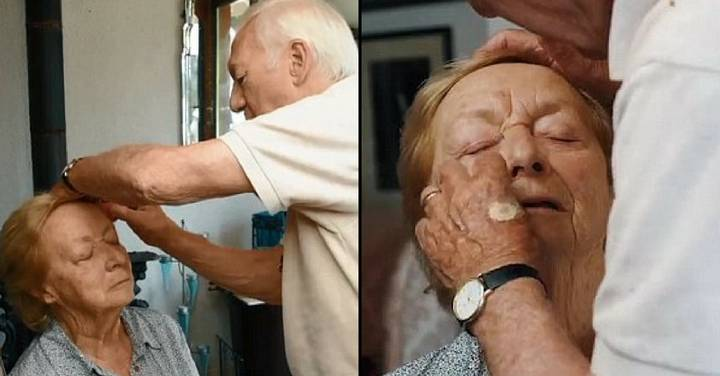 Husband, 84, Releases Tutorial After Learning To Do Wife's Make Up Because She's Going Blind