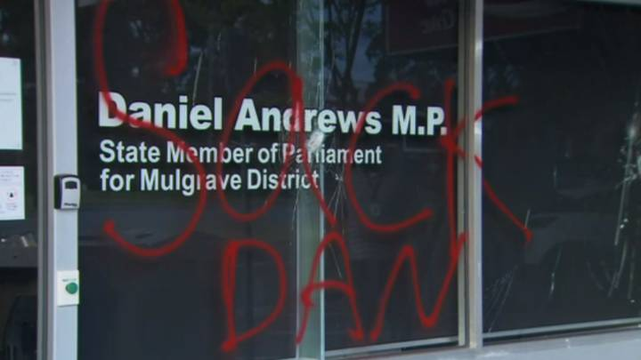 Premier Daniel Andrews' Office Has Been Vandalised
