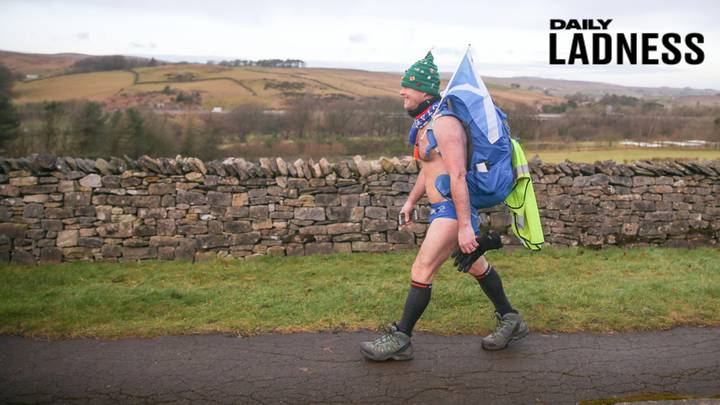 Man Walking 1,000 Miles Wearing A Tiny Pair Of Speedos To Raise Money For Charity