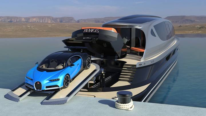 Super Yacht Concept That Costs £25M Features Free Bugatti Chiron