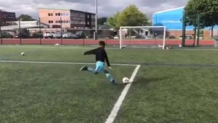 Dad Promises Son A PlayStation If He Can Hit The Crossbar Three Times