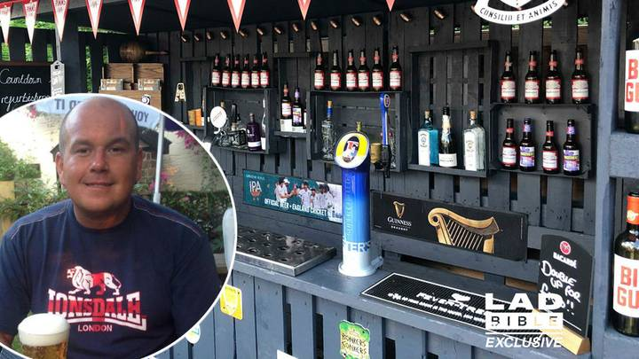 Man Builds Incredible Pallet Bar In His Back Garden For £90