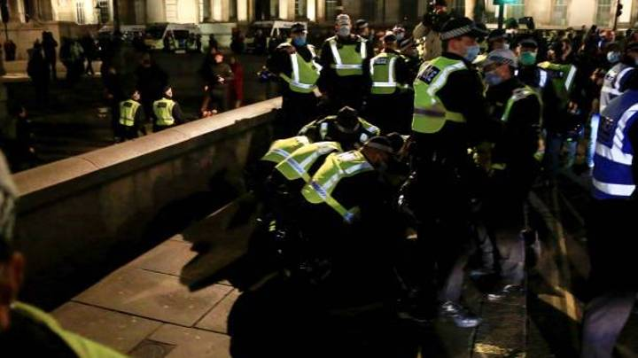 Police Release Warning After Large Group Of People Join Anti-Lockdown Protest