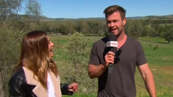 Chris Hemsworth Interrupts Weather Report And Reads Out The Forecast