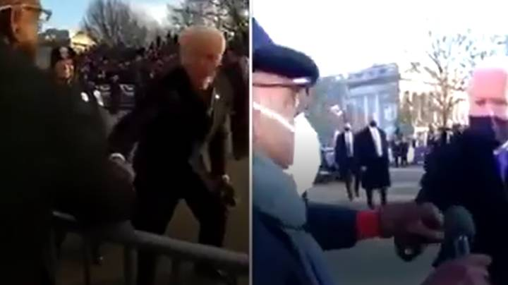 Joe Biden Greets Journalist In Same Spot Eight Years On