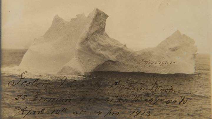 Photograph Of Iceberg 'Most Likely' To Have Sunk The Titanic Has Surfaced 108 Years Later