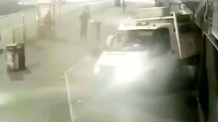 Footage Shows Gang Smash Into ATMs But Fail To Steal Anything