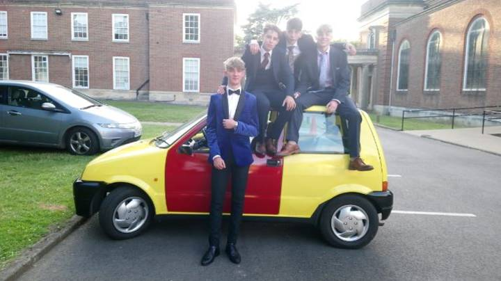 LADs Go To Prom In An Inbetweeners Car They Created Themselves