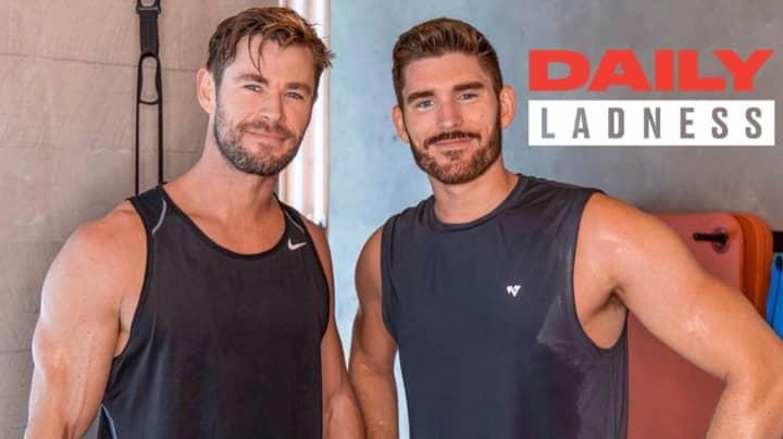 Bloke Meets Chris Hemsworth After Training Like Him For 90 Days