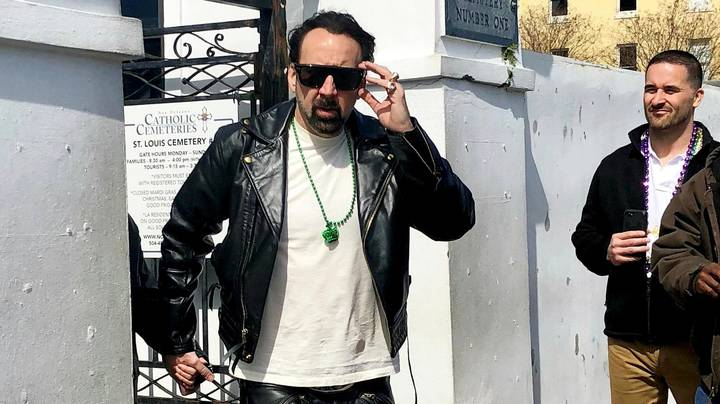 Nicolas Cage Visits His Tomb In New Orleans With Mystery Woman
