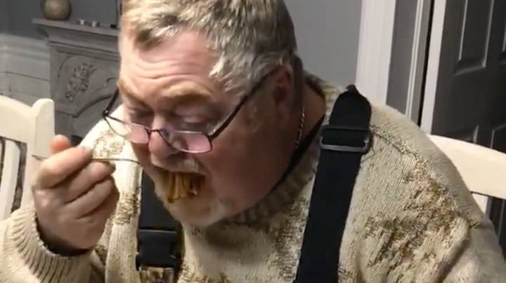 Man Goes Viral After Using Scissors To Eat Spaghetti