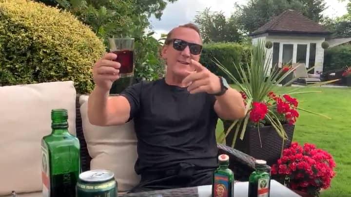 Former Arsenal Player Ray Parlour Necks Jägerbomb With Jäger Mixer