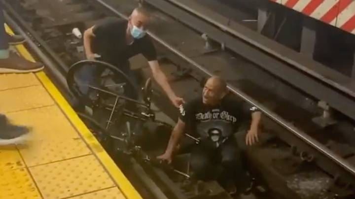 Good Samaritan Rushes To Save Man In Wheelchair Who Fell Onto Train Tracks
