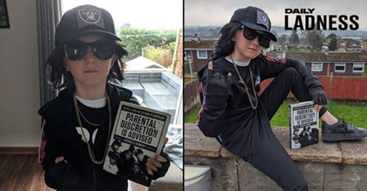 Schoolboy Dresses Up As NWA Rapper Eazy-E For World Book Day