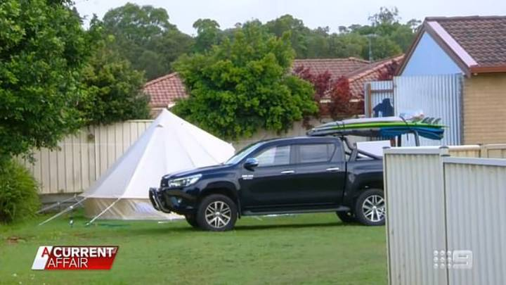 Landlord Pitches Tent And Sets Up Camp In Tenant's Back Garden