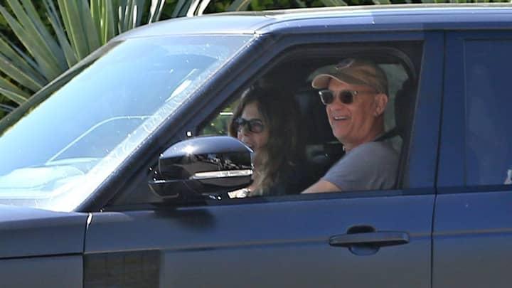 Tom Hanks And Rita Wilson Return To Los Angeles After Beating Coronavirus
