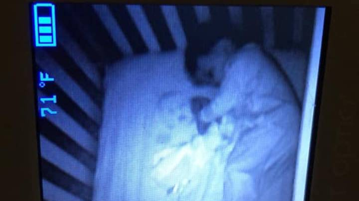 Mum Gets A Fright When She Spots 'Ghost Baby' In Her Son's Cot
