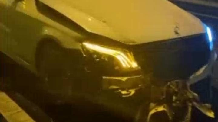 Amir Khan Crashes £90,000 Mercedes On Motorway