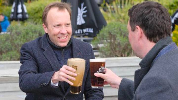 Matt Hancock's Pint Appears To Be 'S***est Guinness Ever' In Viral Picture