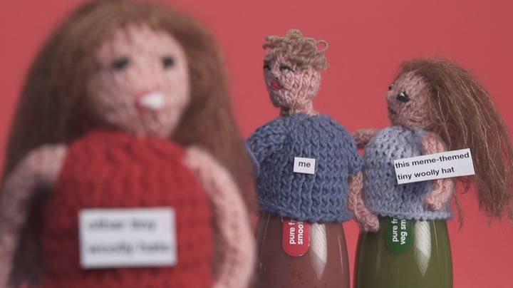 Meme-Inspired Knitted Hats: Hide the Pain Harold As You've Never Seen Him