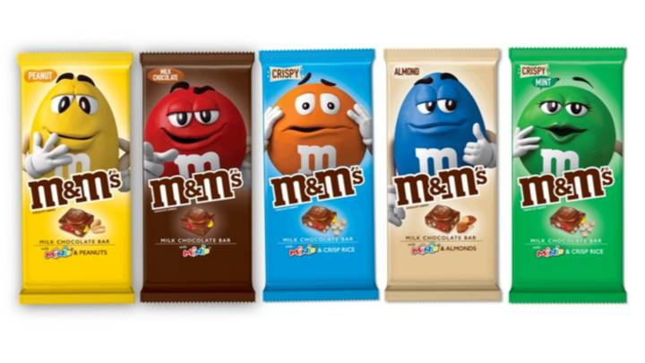 A Whole Range Of M&M's Chocolate Bars Are Being Released In December