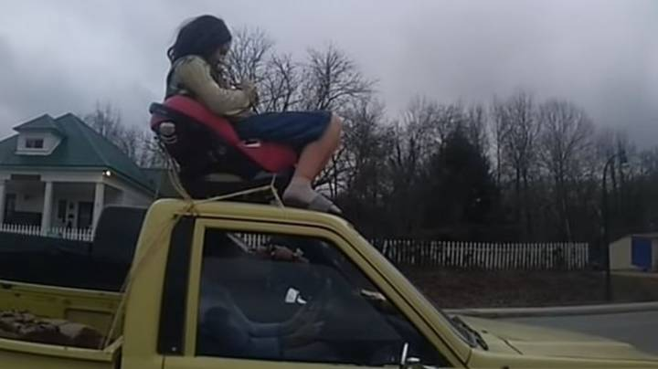 Police Pull Over Borat For Driving With Daughter On Roof