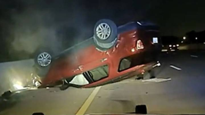 Police Officer Flips Pregnant Woman's Car Because She Didn't Pull Over Fast Enough