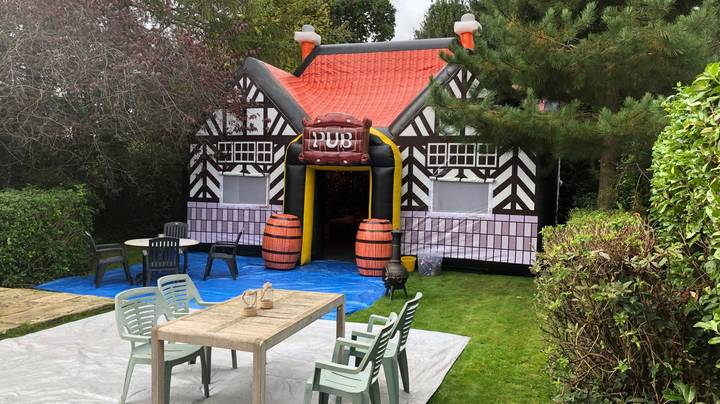 You Can Now Hire An Inflatable Pub For Your Garden