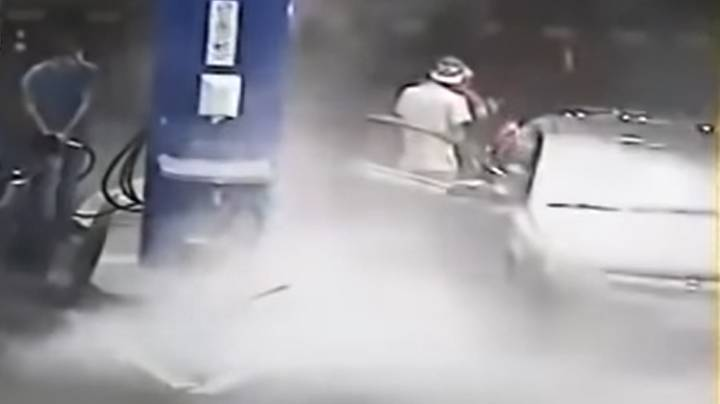 Petrol Station Owner Goes Viral After Shooting Fire Extinguisher At Smoking Customer