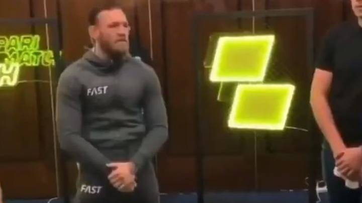 Dagestani Man Throws Bottle At Conor McGregor During Moscow Press Conference