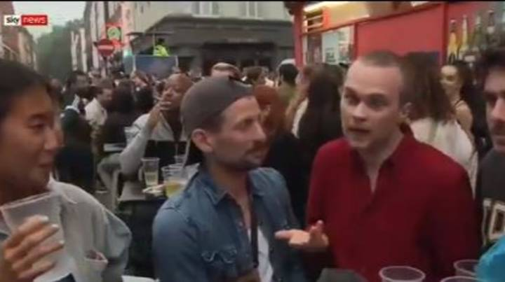 Fury As Pub-Goer Admits 'We're Clearly Not Social Distancing But It's Kind Of Fun' In Interview