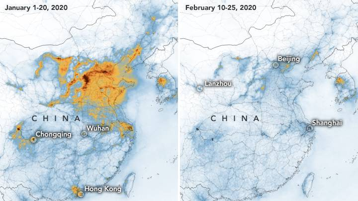 NASA Images Show The Reduction In Chinese Pollution Because Of Coronavirus