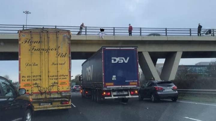 'Hero' Lorry Driver Stops Under Motorway Bridge As Girl 'Was Going To Jump'