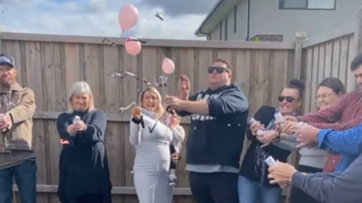 Aussie Dad-To-Be Fuming After Gender Reveal Balloon Shows He's Having A Girl