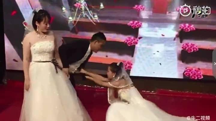 Bride Shocked As Groom's Ex Crashes Wedding Wearing Bridal Dress